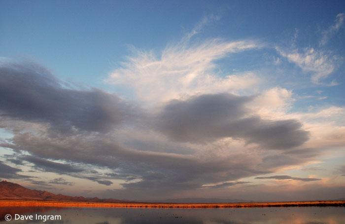 Big sky over Cochise Lake, Wilcox, Arizona