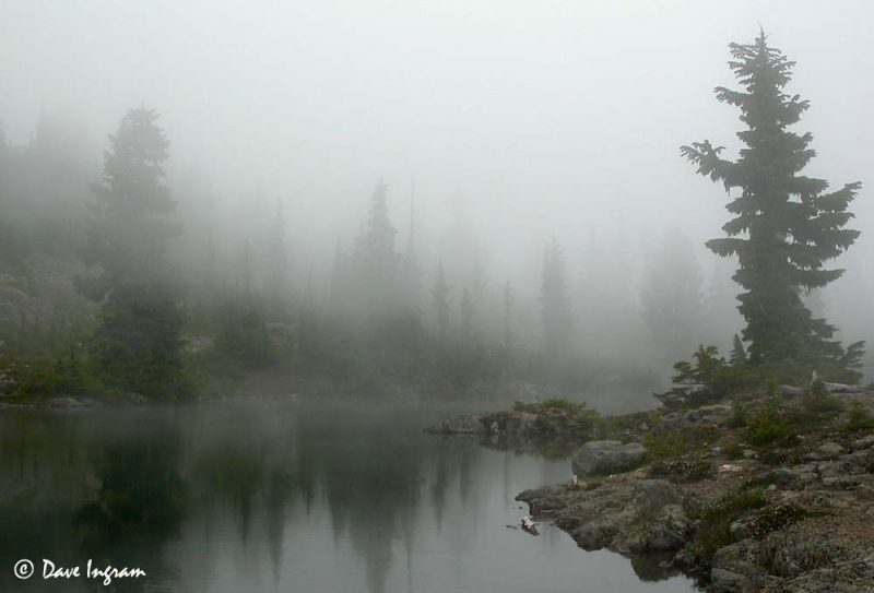 Pond at the top of Crest Mountain