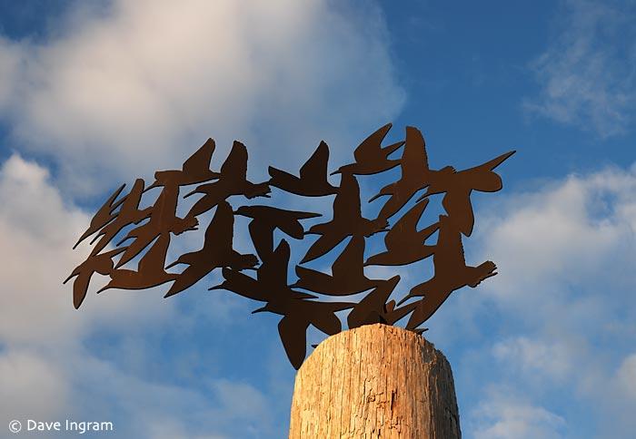 Shorebird Sculpture at 72nd Street