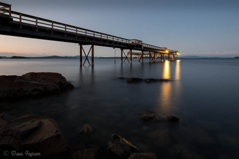 Twilight at Sidney Pier