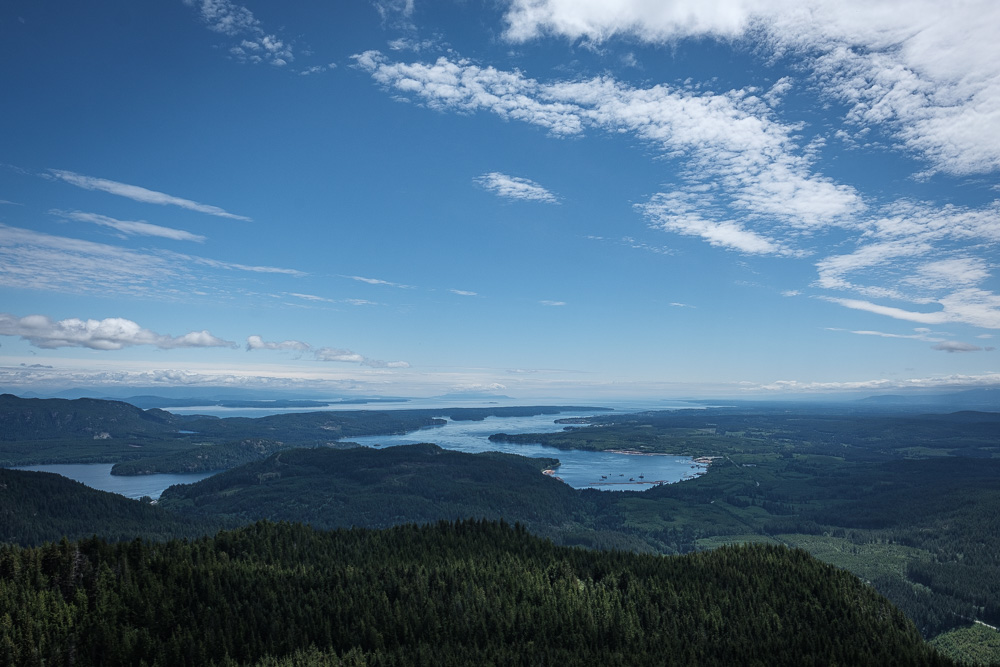 View from the lookout on the Campbell River Lookout trail.